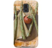 Asparagus and tomato Samsung Galaxy Case/Skin