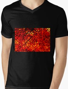 red wire Mens V-Neck T-Shirt