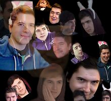 Aleks face collage by Hannah Thayer