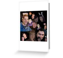 Aleks face collage Greeting Card