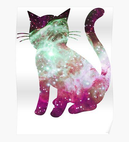 Thor's Helmet Nebula   Space Kitty Poster