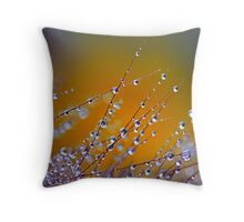 Tender Fountain Grass Throw Pillow