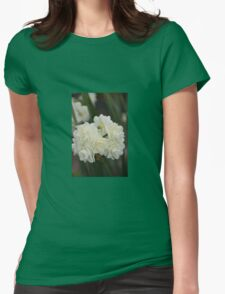WHITE JONQUILS Womens Fitted T-Shirt
