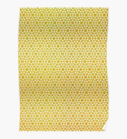 Silicon Atoms Yellow Poster
