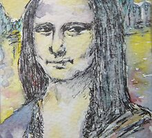 ACEO Mona Lisa by da Vinci by christine purtle