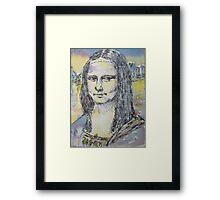 ACEO Mona Lisa by da Vinci Framed Print