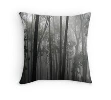 A foggy morning in Blackwood, Victoria Throw Pillow