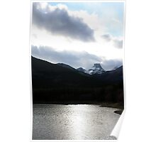 Silver Waters and Mountain Peaks Poster