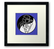 TMNT - Yin Yang - Shredder & Splinter 03 - Black Framed Print