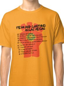 Fear and Loathing in Las Vegas checklist Classic T-Shirt