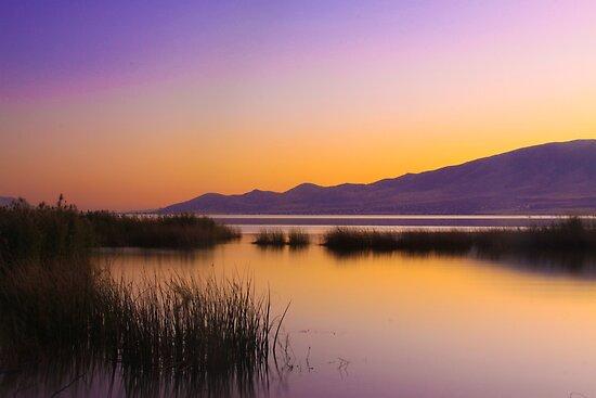 Sunset at Utah Lake by CDNPhoto