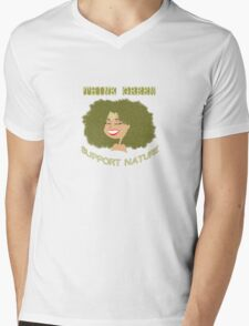 Think Green - Support Nature Mens V-Neck T-Shirt