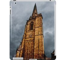 Ominous Church Clock Tower  and Foreboding Weather iPad Case/Skin