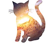 Galactic Inferno | Space Kitty Photographic Print