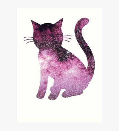 Scorpius Pink | Space Kitty Art Print