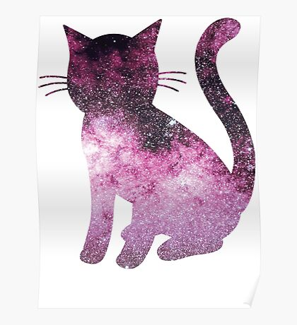 Scorpius Pink   Space Kitty Poster