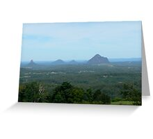 Glasshouse Mountains from Lady Cairnross Park near Melaney Greeting Card