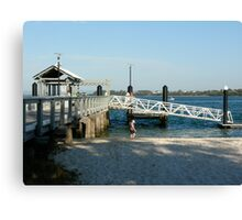 Bongaree Jetty - Bribie Island Canvas Print