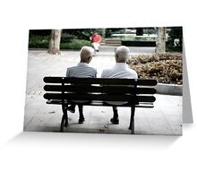 China Chatting Elders Greeting Card