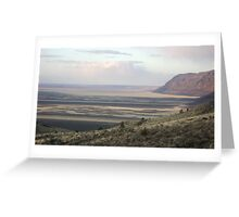 Warner Valley Overlook.... Oregon Desert Greeting Card
