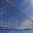 Volleyball Net Against Blue Cloudy Sky  by Petr Svarc