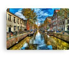 Amsterdam in Autumn Canvas Print