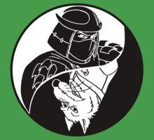 TMNT - Yin Yang - Shredder & Splinter 04 - White One Piece - Short Sleeve