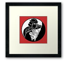 TMNT - Yin Yang - Shredder & Splinter 04 - White Framed Print