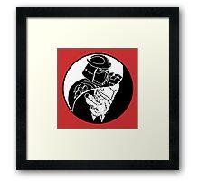 TMNT - Yin Yang - Shredder & Splinter 04 - White Framed Print