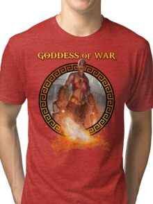 Goddess of War (collaboration with Miss Sinister Cosplay) Tri-blend T-Shirt