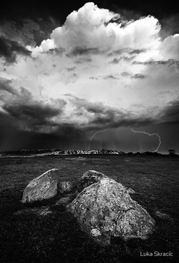 Lightning at the Rocks by Luka Skracic