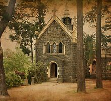 The Chapel at Montsalvat by Angie Muccillo