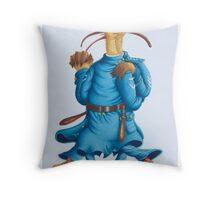 Tango in Blue (Watercolour on Bainbridge board) Throw Pillow