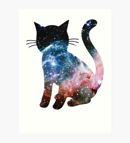 Thor's Helmet Nebula | Space Kitty Art Print