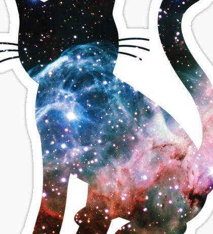 Thor's Helmet Nebula   Space Kitty Sticker