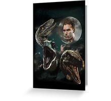 Three Raptors and a Pratt Greeting Card