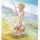 Girl gone fishing  by Ken Tregoning