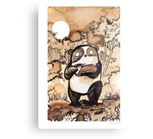 Coffee Panda Metal Print