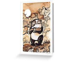 Coffee Panda Greeting Card