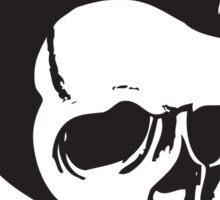 Rockabilly Skull Sticker