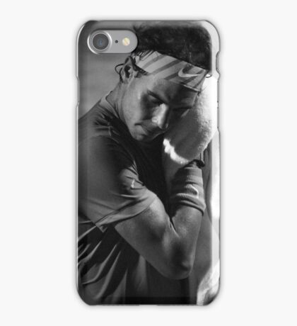 Rafa toweling off (B&W) iPhone Case/Skin