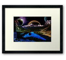 Other Worldly Night Framed Print