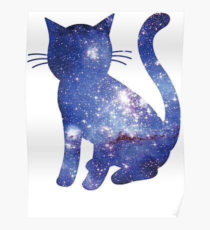 Magellan Blue   Space Kitty Poster