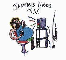 James Likes T.V! Kids Tee