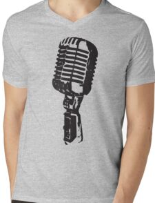 Microphone Mens V-Neck T-Shirt