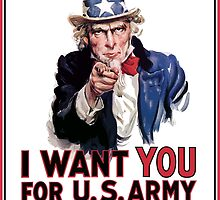 """Uncle Sam """"I Want You""""  by warishellstore"""