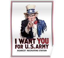 """Uncle Sam """"I Want You""""  Poster"""