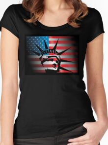 Lady Liberty USA Women's Fitted Scoop T-Shirt