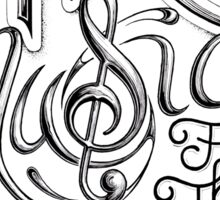 Art Is Music For The Deaf Sticker