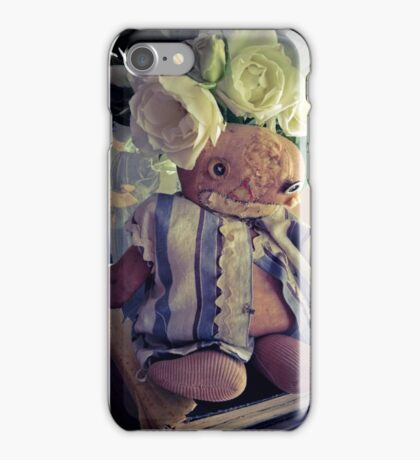 Flea Market Doll and White Roses iPhone Case/Skin